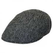 Herringbone Harris Tweed Wool Ascot Cap