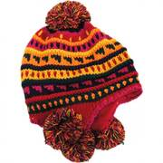 Kids' Pom Knit Trapper Beanie Hat