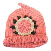 Kids' Sunflower Knit Beanie Hat