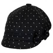 Gaby Dot Wool Blend Newsy Cap