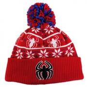 Marvel Comics Spiderman Sweater Knit Beanie Hat