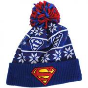 DC Comics Superman Sweater Knit Beanie Hat