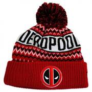 Marvel Comics Deadpool Winter Knit Beanie Hat