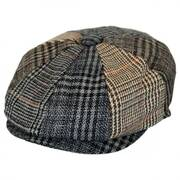 Baby Plaid Patchwork Wool Blend Newsboy Cap