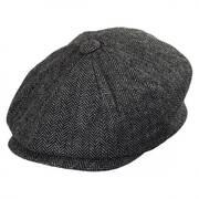 Baby Herringbone Wool Blend Newsboy Cap