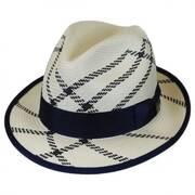 Rialto Shantung Straw Trilby Fedora Hat