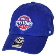 Detroit Pistons NBA Clean Up Strapback Baseball Cap