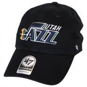Utah Jazz NBA Clean Up Strapback Baseball Cap Dad Hat