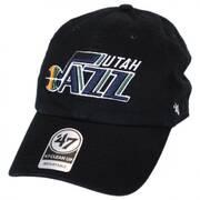 Utah Jazz NBA Clean Up Strapback Baseball Cap Dad Hat