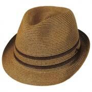 Two-Tone Band Toyo Straw Trilby Fedora Hat