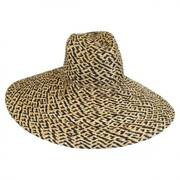 Belize Raffia Straw Wide Brim Fedora Hat
