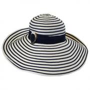 Ribbon Striped Lampshade Sun Hat