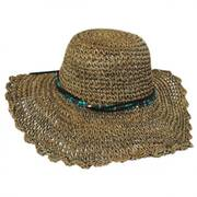 Scallop Brim Seagrass Straw Swinger Hat