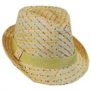 Kids' Pixel Stripe Toyo Straw Fedora Hat