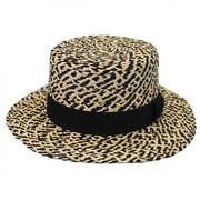 Autumn Raffia Straw Boater Hat