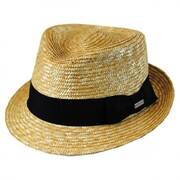 Wheat Braid Straw Arnold Trilby Fedora Hat