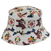 Kids' Horses Cotton Bucket Hat