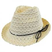 Kids' Cotton Lace Fedora Hat