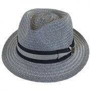 Cayo Straw Tear Drop Fedora Hat