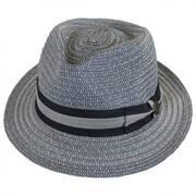 Cayo Straw Tear Drop Fedora Hat