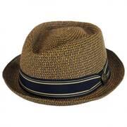 Big Boy Kris Toyo Straw Diamond Crown Fedora Hat