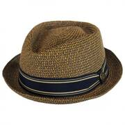 Big Boy Kris Toyo Straw Diamond Crown Fedora Hat