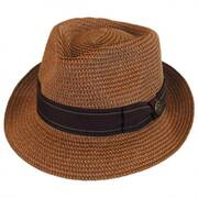 Diango Toyo Straw Tear Drop Fedora Hat