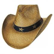 Stars and Stripes Straw Western Hat