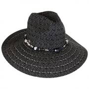 Bead Band Toyo Straw Fedora Hat