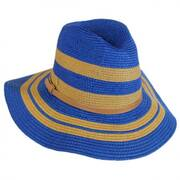 Gold Stripes Toyo Straw Fedora Hat