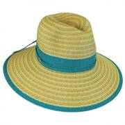 Two-Tone Toyo Straw Fedora Hat