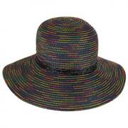 Rainbow Stitched Toyo Straw Sun Hat
