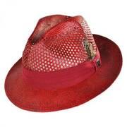 Vent Toyo Straw Fedora Hat
