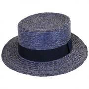 Autumn Raffia Straw Boater Hat