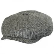 Herringbone Silk Newsboy Cap