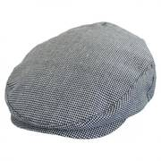 Hooligan Houndstooth Tweed Linen Blend Ivy Cap