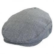 Hooligan Houndstooth Tweed Linen Blend Ivy Cap