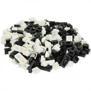 Bricky Blocks Mixed 230 Pack - Black and White