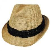 Malia Raffia Straw Fedora Hat