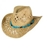 Vaquera Raffia Straw Western Hat