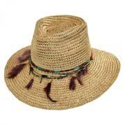 Jurere Raffia Straw Fedora Hat