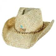 Kids' Sea Creature Raffia Straw Western Hat