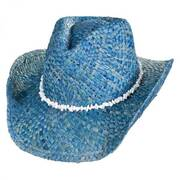 Bronco Beach Raffia Straw Western Hat