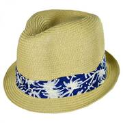 Kids' Palm Tree Band Toyo Straw Fedora Hat