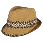 Mayan Packable Toyo Straw Fedora Hat
