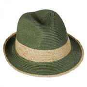 Raffia Band Toyo Straw Fedora Hat