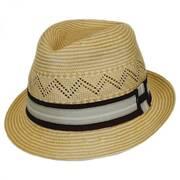 Panama Natural Straw Fedora Hat