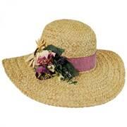 Cornucopia Raffia Straw Swinger Hat