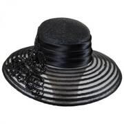 Beaded Striped Brim Lampshade Hat