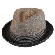 Hooper Toyo Straw Blend Trilby Fedora Hat